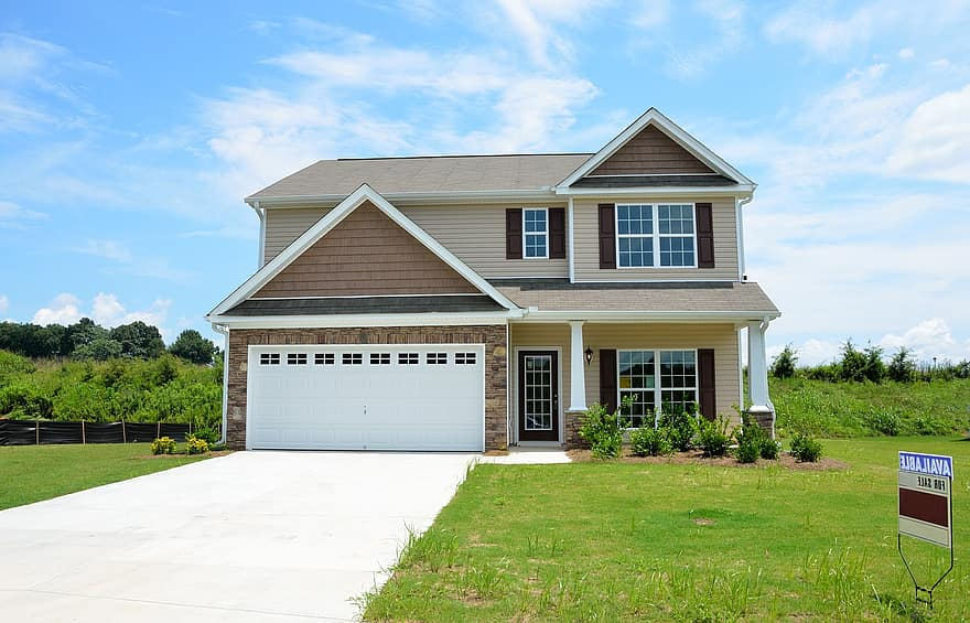 landscaping front yard new home house estate real new home residential property family 1