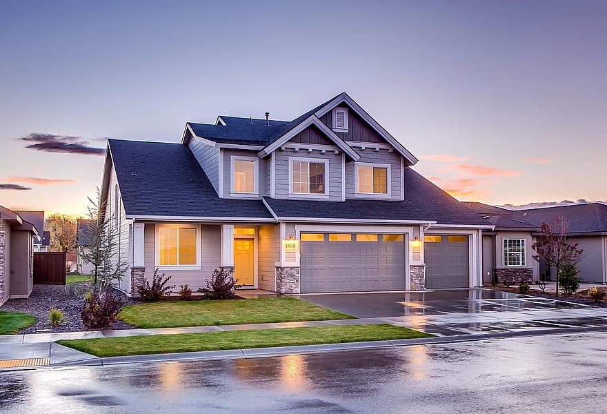 architecture building driveway garage home house property residential roof