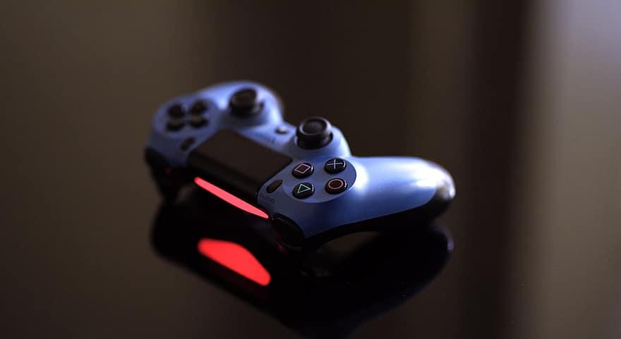 joystick ps4 game dark red technology equipment controller