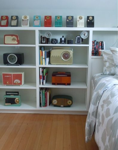 decorate with old radios