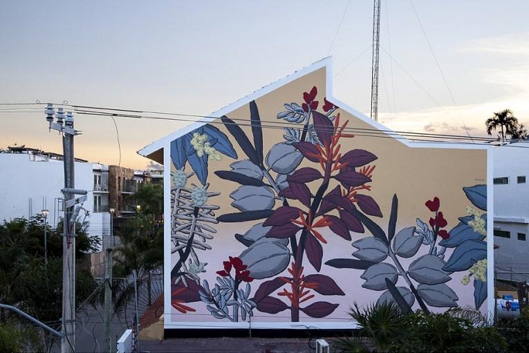 Pastel mural in Playa del Carmen México