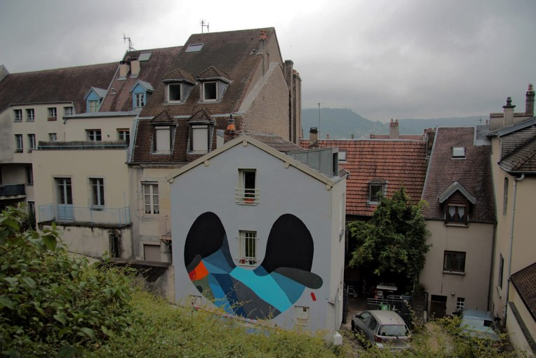 108 mural in Besancon France