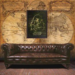 Captain Harlock, wall art, poster, gift