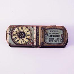 pen box, pen holder, pen case, decoupage box, gift box,