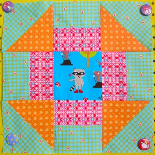 Churn Dash Februar Block - 6 Köpfe 12 Blöcke - Quilt Along  - Farbenmix