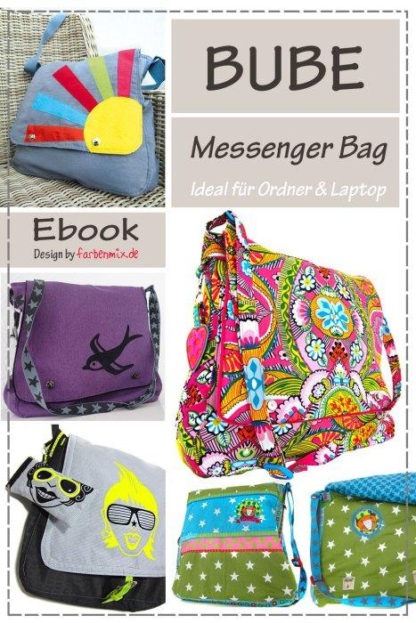Taschenspieler BUBE Ebook Messenger Bag farbenmix