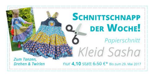 Kleid Sasha - Papierschnittmuster Drehkleid Trägerkleid Trägerrock als SchnittSchnappderWoche bei farbenmix