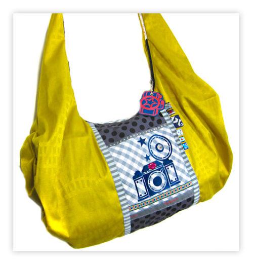 Taschenspieler Ebook Faltentasche AS - sportliche Tasche mit raffinierten Faltungen - Schritt für Schritt Anleitung und Schnittteile bei farbenmix