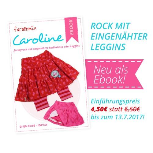 Rock mit eingenähter Leggins CAROLINE von farbenmix - Jerseyrock in den Größen 86 bis 164 als Ebook