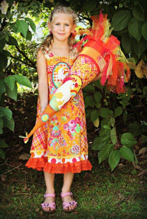 kuschelsterndal - Einschulungskleid farbenmix Schnittmuster