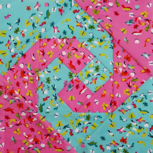 farbenmix Snail's TRAIL Quiltblock für den 6 Köpfe 12 Blöcke Quiltalong  sabines Beitrag