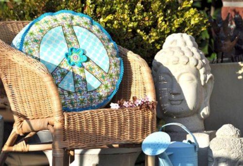 Peacekissen im Hippy-Style
