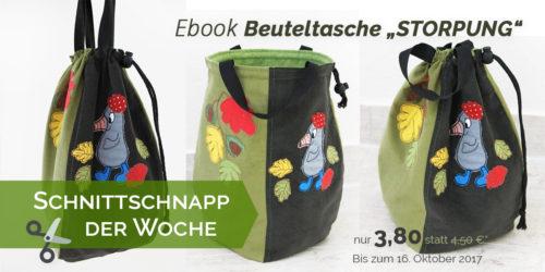 SchnittSchnappderWoche - Beuteltasche Ebook Storpung von farbenmix