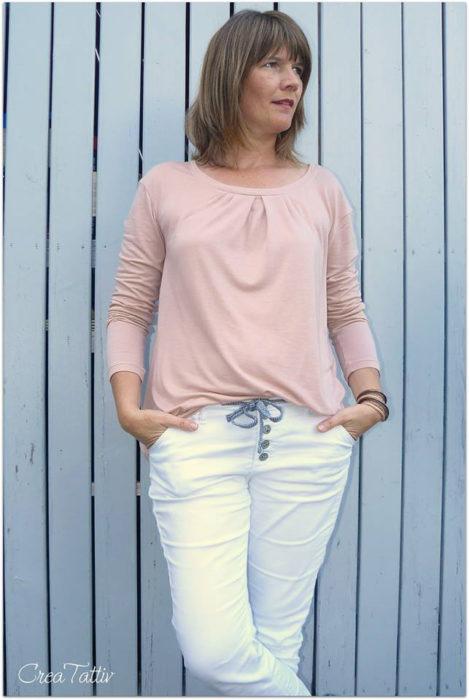 crea tattiv mialuna lady leana ganz schlicht das ideale Basicshirt jetz als Papierschnitt bei farbenmix