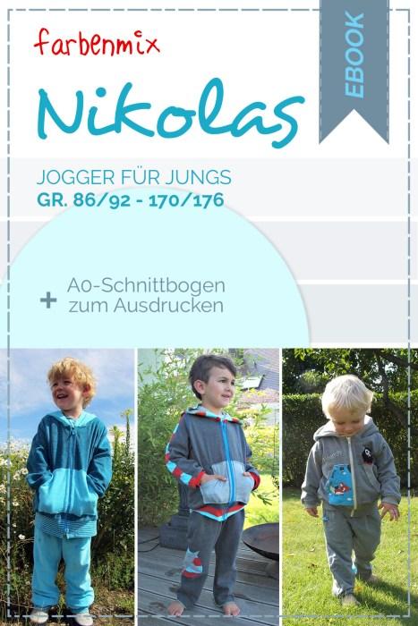 Schnittmuster für ein Jogginganzug NIKOLAS von farbenmix