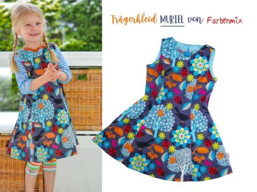 Trägerkleid mit Wiener Nähten - das Trägerkleid MURIEL jetzt auch als Ebook bei farbenmix