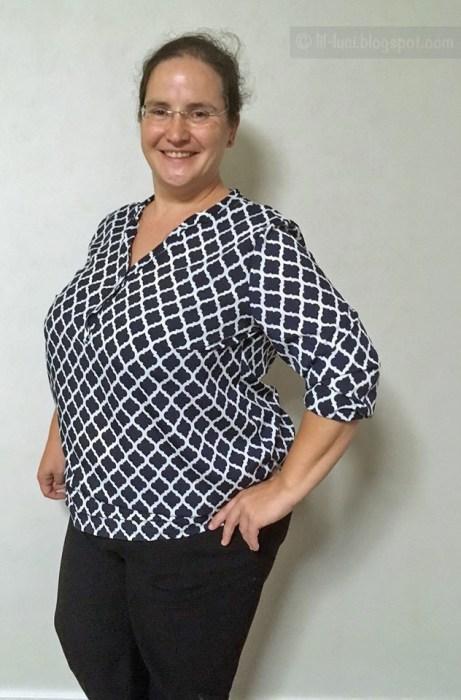 Bluse für den Sommer nähen 46 bis 58 große Größen Schnittmuster von farbenmix