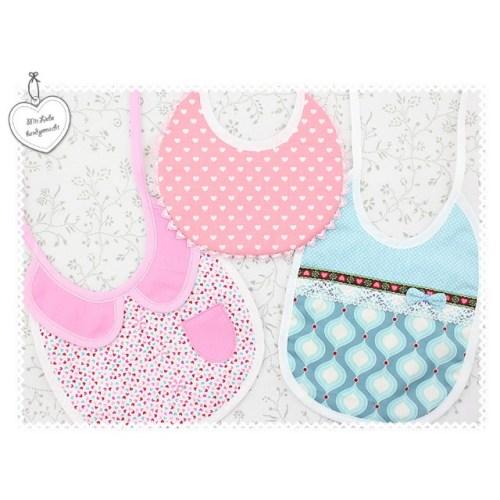 Schnittmuster für Kinderkleidung, Babyausstattung - Lätzchen - Freebook von farbenmix