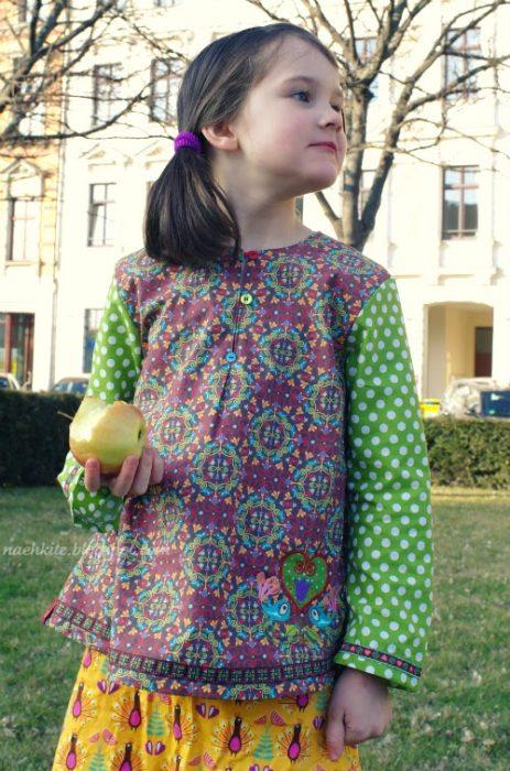 Nähen für den Sommer mit der Hemdbluse TAJA von farbenmix