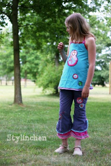 Sommerkombi für Kinder nähen mit dem Schnittmuster LORE von farbenmix
