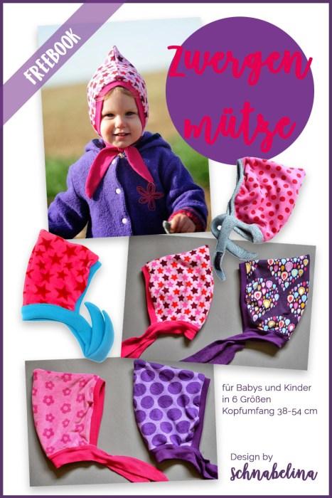 Schnittmuster für Babykleidung von farbenmix - Zwergenmütze, Babymütze