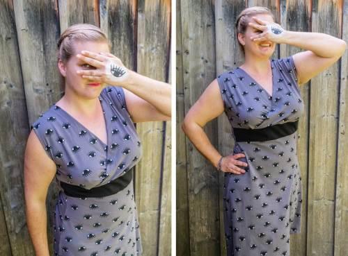Kleid mit Wickeloberteil nähen mit dem Schnittmuster AMBER design : Jolijou erhältlich als Papierschnittmuster und Ebook. Mit ausführlicher Schritt für Schritt Nähanleitung