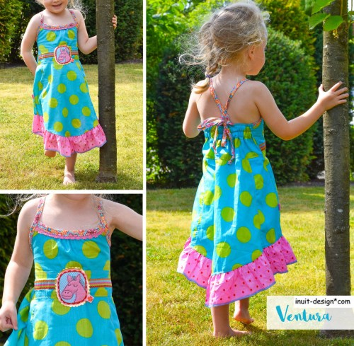 Ventura ist ein Schnittmuster für ein Neckholderkleid für Kinder. Jetzt auch als Ebook Version im farbenmix Shop