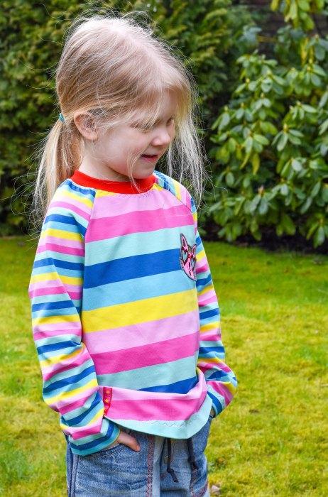 sportliches Raglanshirt für Kinder ZOE von farbenmix als Ebook und Papierschnitt mit Videoanleitung und Tipps