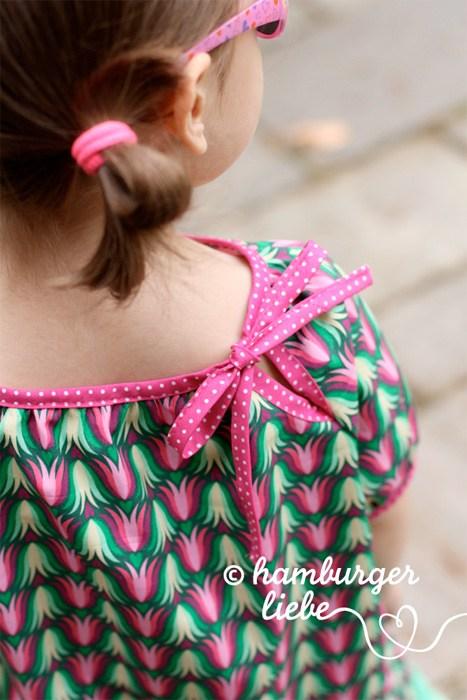 Hannah ein Blusenschnittmuster für Kinder von farbenmix. Hier ein Designbeispiel von Susanne von Hamburger liebe