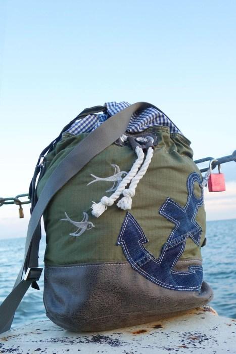 Nähen für die Ferien. Dazu gehört natürlich eine Strandtasche, Beachbag. Für Handtücher und vieles mehr