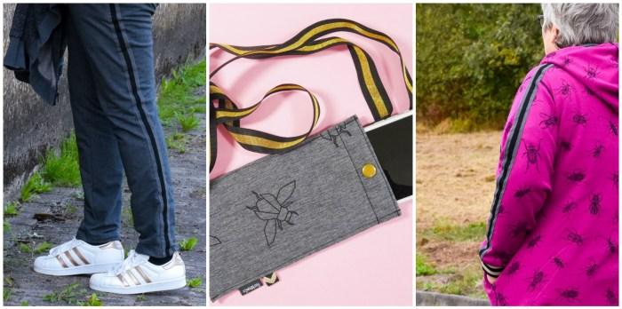 Retrostripes - coole Streifenbänder um Kleidung und Taschen zu verzieren. Jetzt neu bei farbenmix