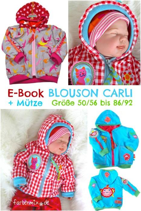 Blouson für Kleinkinder Schnittmuster Carli von farbenmix.