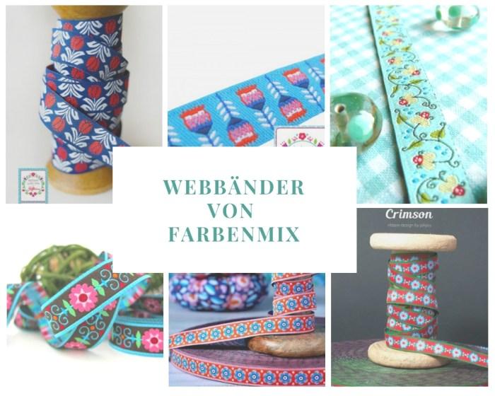Blumen Folklore Webbänder von farbenmix.de
