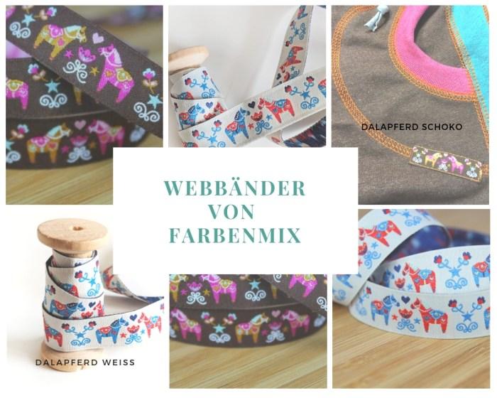 Dala Pferde Webband von farbenmix