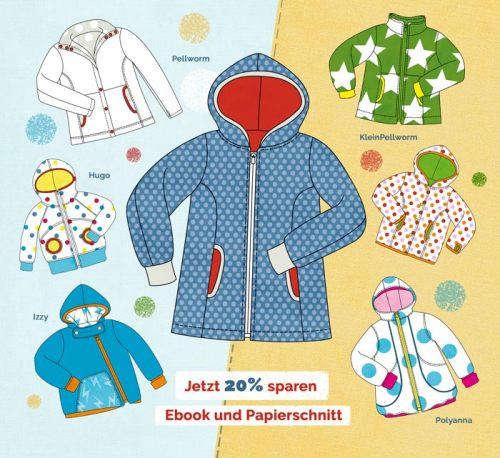 Jacke nähen mit farbenmix . Neue überarbeitete Schnittmuster jetzt für euch im Shop