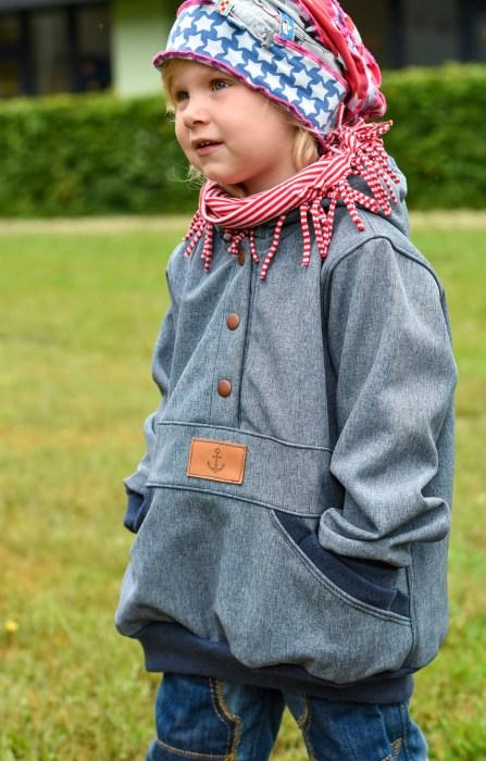 Windbreaker nähen - Jacke nähen für Kinder für die Übergangszeit. Schnittmuster, Anleitung von farbenmix