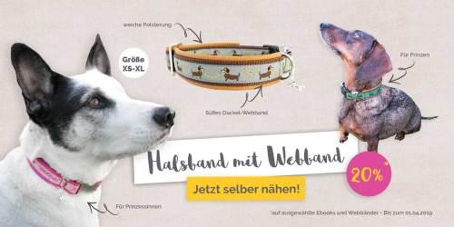 Nähen für Hunde - diese Woche tolle Ebooks besonders günstig um euren Liebling tolle Dinge zu nähen - farbenmix Ebooks