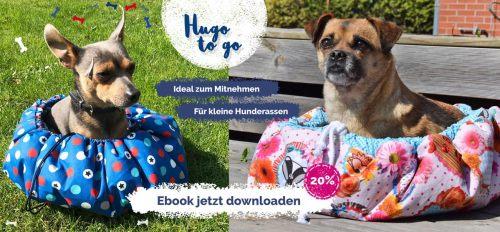 Hugo to go . Ein Hundebettchen - Hundenest für kleine Hunde zum Mitnehmen. Hundedecke Hunde Nest zum Mitnehmen nähen