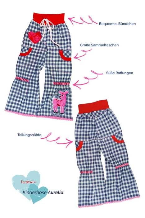 leichte Kinderhose nähen mit Aurelia von farbenmix