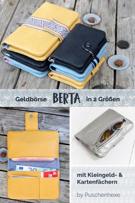 Geldbörse Berta von Puschenhexe Ebook in 2 Größen jetzt bei farbenmix