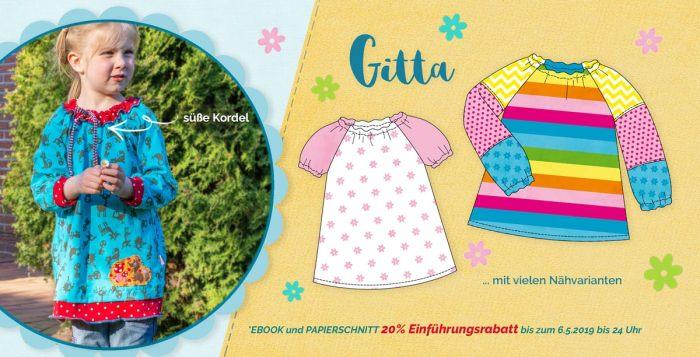 Jerseybluse für Kinder nähen mit GITTA von farbenmix
