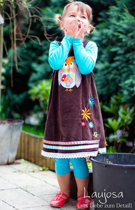 Kinder Trägerkleid nähen - Marieke von farbenmix - Anfänge Nähprojekt für Kinder
