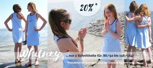 Sommerkleid in wenigen Minuten nähen - Schnittmuster mit nur zwei Schnittteilen von farbenmix Whitney