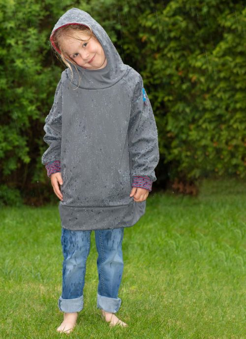 Regenhoodie aus Micro-Softshell