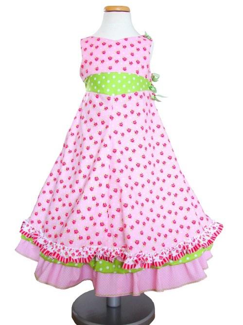 Festliches Kleid nähen Schnittmuster Unique farbenmix