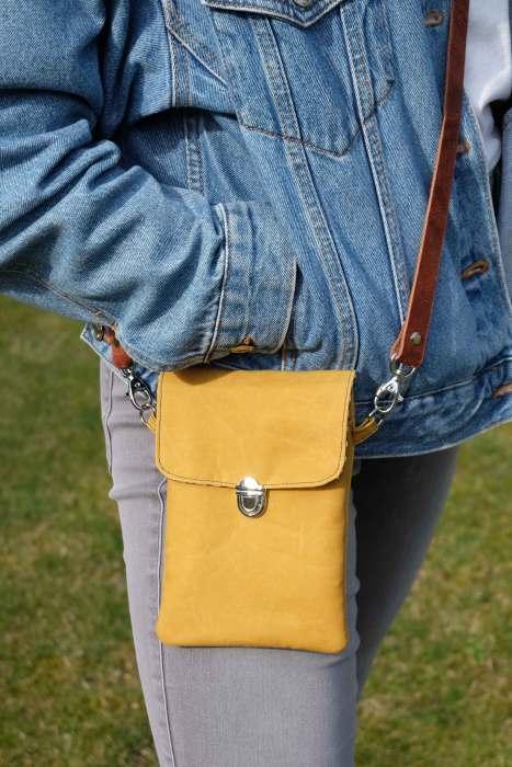 Puschenhexe Taschenschnittmuster Handy Tasche Crossover bag