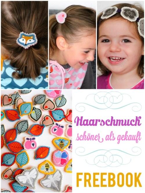 Freebook Haarspangen nähen Nähen für die Einschulung Geschenkidee Einschulung Schultüte