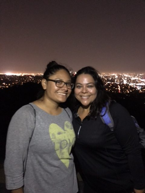 Night hike with my friend, Zenia. I have been on the most  hikes with her and inspired her to put on her hiking boots and enjoy the trails.