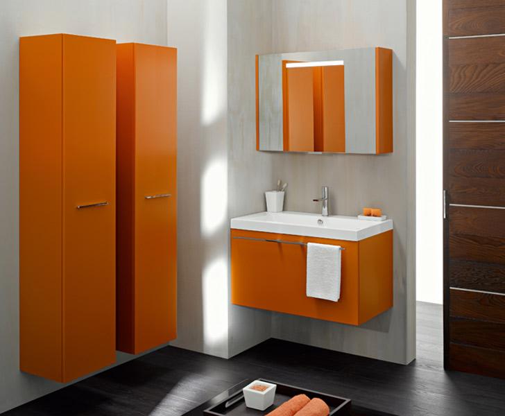 Salle De Bain Marron Et Orange | Unixpaint