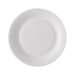 Assiette carton ronde blanche 23cm